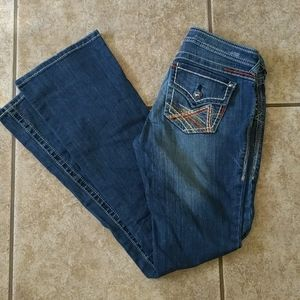 Rodeo cowgirl ARIAT Ruby bootcut jeans sz 27x35.5